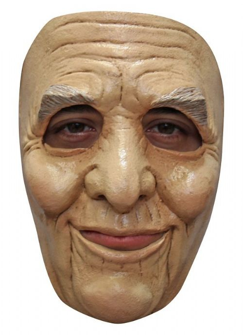 Mr Smith Face Mask Old Man Halloween Fancy Dress Cosplay
